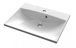 MARIA Cultured Marble Washbasin 75x46cm, white