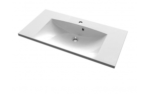 MARIA Cultured Marble Washbasin 90x46cm, white