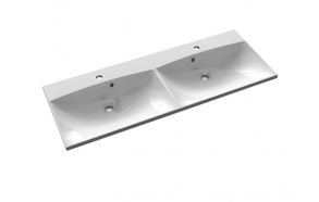 MARIA Cultured Marble Washbasin 120x46cm, white