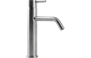MINIMAL basin mixer high without pop up waste, stainless steel