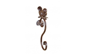 "7-1/4""H Metal Hook w/ Bird"