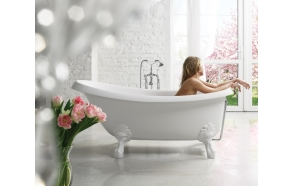 Cast stone bath VICTORIA, STILO or ANTICA legs