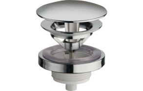 Free running unslotted round basin waste, V 5-60mm, chrome