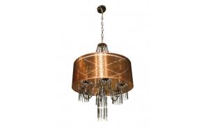 Pendant lamp Zoia brown, d52cm