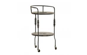 metallist vintage serveerimislaud ratastel