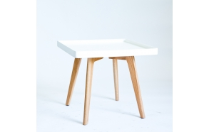 coffee table Nordic, oak+white