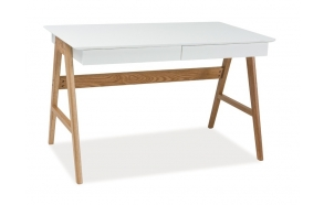 desk Nordic, oak+white