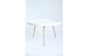 coffee table Nordic, oak+white