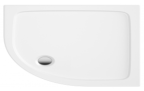 120x80 quadrant stone shower tray, right corner, incl front panel, feet and waste S0037+ 1711C+S0043(KQ4)