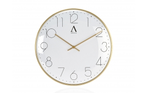 GOLD METAL WALL CLOCK