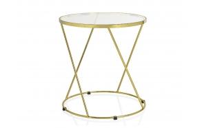 ümar laud, klaas+kuld