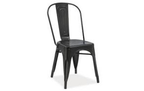 black vintage metal chair