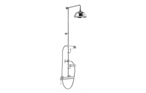 LONDON II Shower panel with lever mixer, Soap dish, height 1267mm, chrome