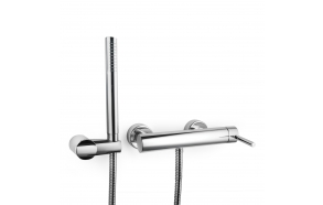 single lever shower mixer Form A, with hand shower, chrome finish