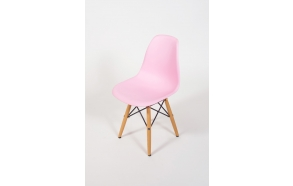 kids chair Goya, pink+beech feet