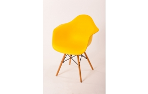 chair Beata, yellow, beech feet