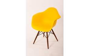 chair Beata, yellow, light brown feet