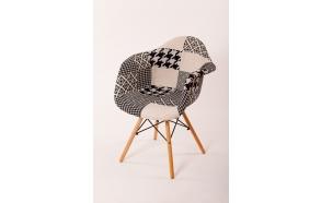 """chair Beata, """"grey patchwork"""", beech feet"""