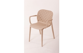 plastic armchair Abuso, light brown