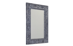 UBUD mirror with frame, 70x100cm, Gray