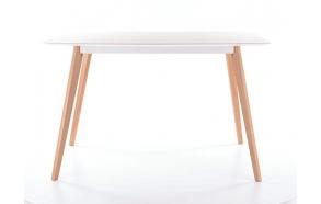 dining table Nordic, white/oak 120x80 cm