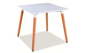 söögilaud Nordic 2, valge/pöök, 80x80 cm