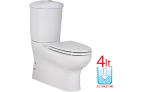 MERCAN WC COMPACT, UNIVERSAL TRAP, NO SEAT