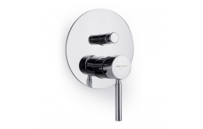 built in shower mixer Form A with diverter, 2 water outlets
