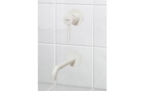 süvistatav valamusegisti Form A seinale, 20 cm tila, matt valge