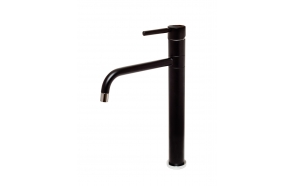 high basin mixer Form A with swivel spout, mat black