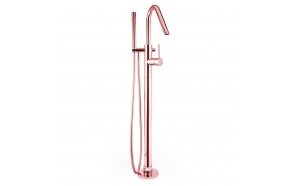 bath mixer floor mount Form A, pink gold finish