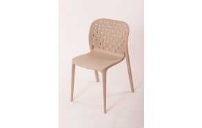 plastic chair Abuso, light brown