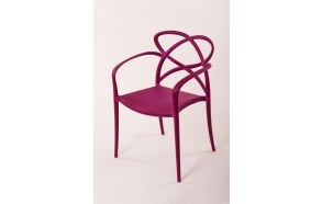 plastic armchair Cocha, purple