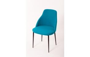 chair Norman C, fabric Nordic blue (HO-10), black metal feet
