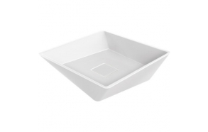 top counter washbasin Geometry 45 cm, with white ceramic plate in the bottom