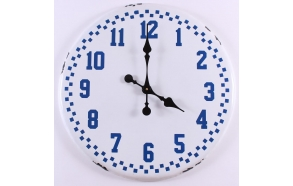 white+blue vintage wall clock