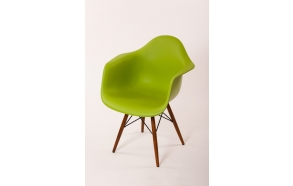 chair Beata, green, light brown feet