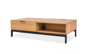 coffee table Scandic, 120 cm, oak