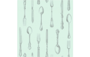 Cutlery Sidewall, Duck Egg