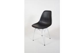 "chair Alexis, black, white metal ""Y"" feet"
