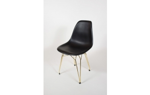 "chair Alexis, black, golden metal ""Y"" feet"