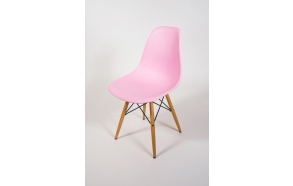 chair Alexis, pink, beech feet