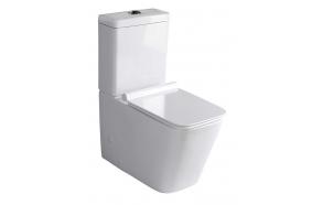 wc set Porta, universal trap, dual flush, soft close seat included (parts: 1,2)