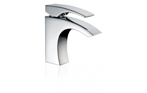 SINGLE LEVER BASIN MIXER WITH POP-UP WASTE LASER CHROME