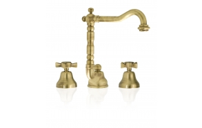 KING Basin set with swivel spout and pop-up waste, bronze