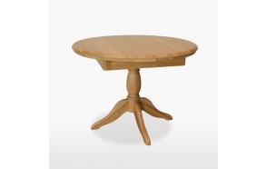 Round extending single pedestal table 106/145 cm