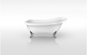 retro bathtub Susanna, no overflow, chromed feet F2, plastic drain included D3