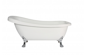 retro bathtub Susanna, chromed feet, plastic drain included