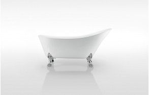 "retro bathtub Rosanna, with overflow, chromed feet ""Modern"" F3"