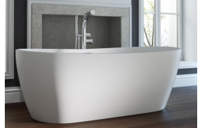 cast stone bath Hellisay, 180x80 cm, mat surface
